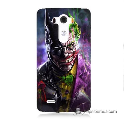 Teknomeg Lg G3 Kılıf Kapak Batman Vs Joker Baskılı Silikon
