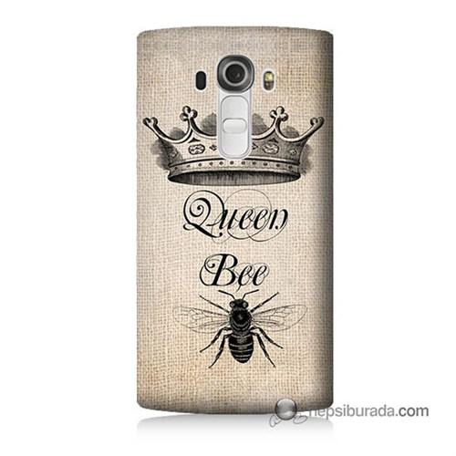 Teknomeg Lg G4 Beat Kılıf Kapak Queen Bee Baskılı Silikon