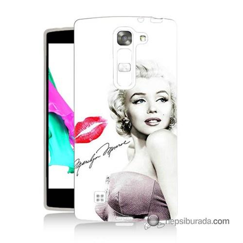 Teknomeg Lg G4c Kapak Kılıf Marilyn Monroe Baskılı Silikon
