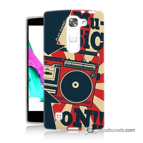 Teknomeg Lg Magna Kapak Kılıf Müzik Baskılı Silikon