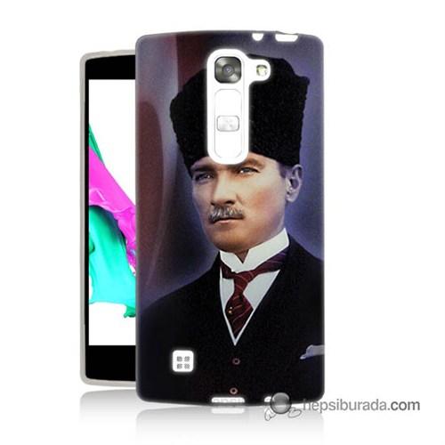 Teknomeg Lg Magna Kılıf Kapak Mustafa Kemal Atatürk Baskılı Silikon