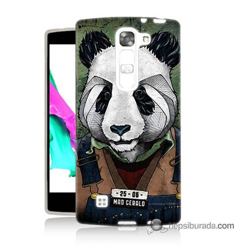 Teknomeg Lg Magna Kapak Kılıf İşçi Panda Baskılı Silikon
