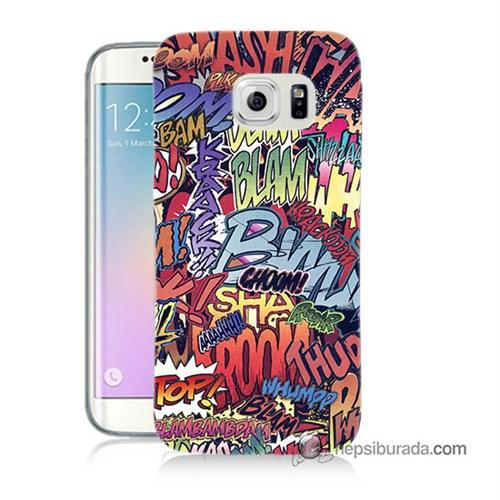 Teknomeg Samsung Galaxy S6 Edge Plus Kılıf Kapak Efekt Baskılı Silikon