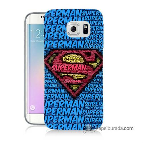 Teknomeg Samsung Galaxy S6 Edge Plus Kapak Kılıf Süpermen Baskılı Silikon