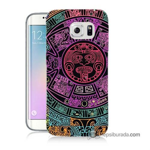 Teknomeg Samsung Galaxy S6 Edge Plus Kılıf Kapak Mayalar Baskılı Silikon