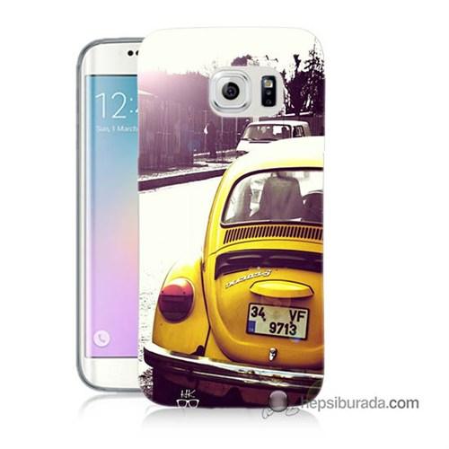 Teknomeg Samsung Galaxy S6 Edge Plus Kılıf Kapak Volkswagen Baskılı Silikon