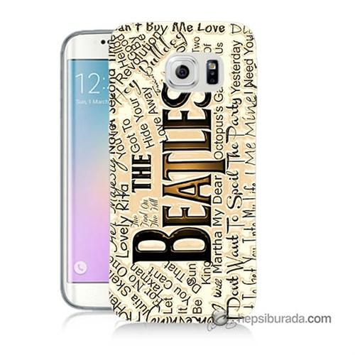 Teknomeg Samsung Galaxy S6 Edge Plus Kılıf Kapak The Beatles Baskılı Silikon