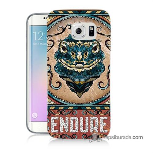 Teknomeg Samsung Galaxy S6 Edge Plus Kılıf Kapak Endure Baskılı Silikon