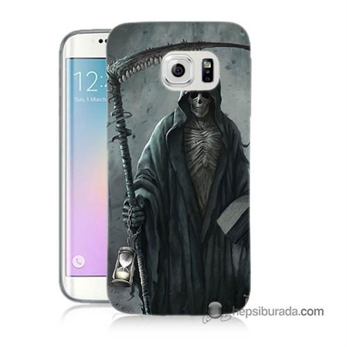 Teknomeg Samsung Galaxy S6 Edge Plus Kılıf Kapak Azrail Baskılı Silikon
