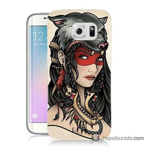 Teknomeg Samsung Galaxy S6 Edge Plus Kapak Kılıf Pocahontas Baskılı Silikon