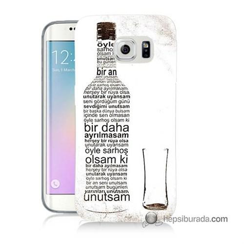Teknomeg Samsung Galaxy S6 Edge Kapak Kılıf Rakı Şişesi Baskılı Silikon