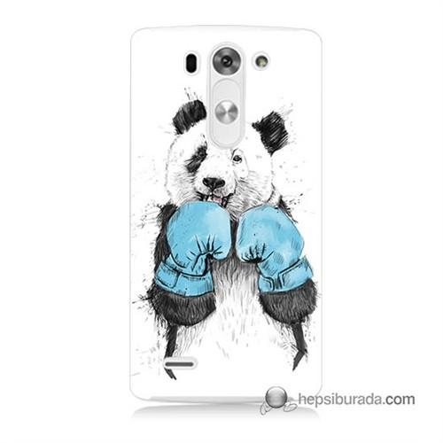 Teknomeg Lg G3 Mini Kılıf Kapak Boksör Panda Baskılı Silikon