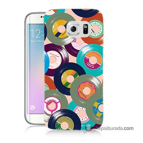 Teknomeg Samsung Galaxy S6 Edge Kapak Kılıf Renkli Plaklar Baskılı Silikon