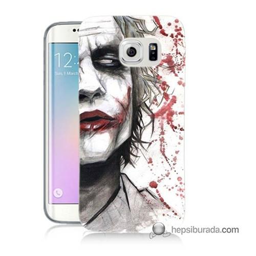 Teknomeg Samsung Galaxy S6 Edge Kapak Kılıf Kanlı Joker Baskılı Silikon