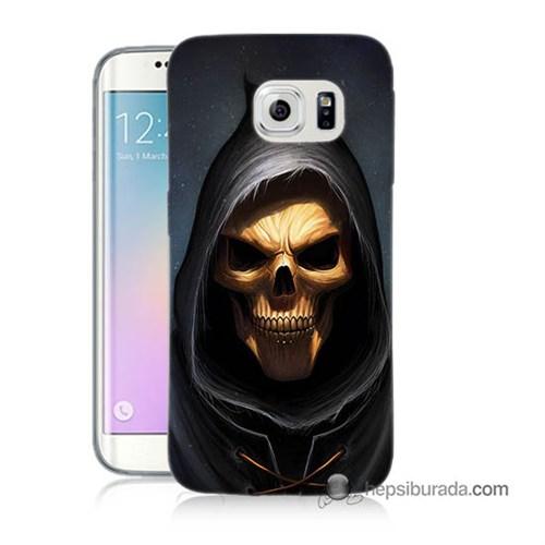 Teknomeg Samsung Galaxy S6 Edge Kılıf Kapak Ölüm Meleği Baskılı Silikon