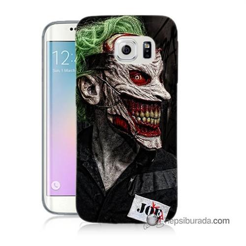 Teknomeg Samsung Galaxy S6 Edge Kapak Kılıf Joker Joe Baskılı Silikon