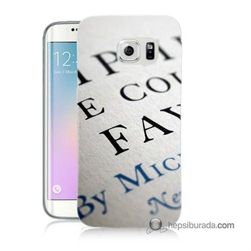 Teknomeg Samsung Galaxy S6 Edge Kapak Kılıf Yazılar Baskılı Silikon