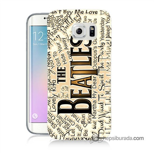Teknomeg Samsung Galaxy S6 Edge Kılıf Kapak The Beatles Baskılı Silikon