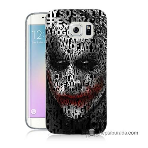 Teknomeg Samsung Galaxy S6 Edge Kapak Kılıf Joker Baskılı Silikon