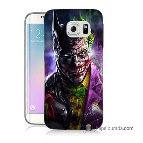 Teknomeg Samsung Galaxy S6 Edge Kılıf Kapak Batman Vs Joker Baskılı Silikon