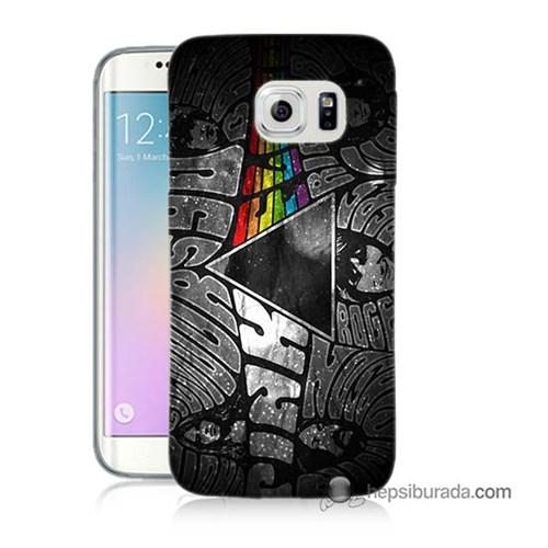Teknomeg Samsung Galaxy S6 Edge Kapak Kılıf Pink Floyd Baskılı Silikon