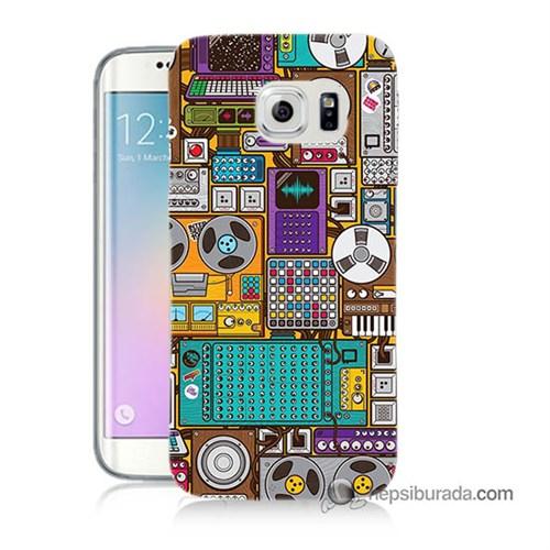 Teknomeg Samsung Galaxy S6 Edge Kılıf Kapak Teknoloji Baskılı Silikon