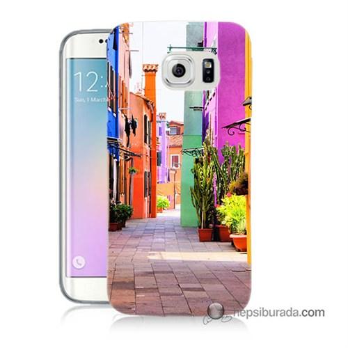 Teknomeg Samsung Galaxy S6 Edge Kılıf Kapak Sokak Baskılı Silikon