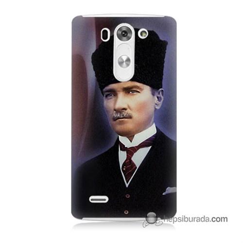 Teknomeg Lg G3 Mini Kılıf Kapak Mustafa Kemal Atatürk Baskılı Silikon