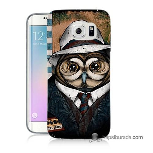 Teknomeg Samsung Galaxy S6 Edge Plus Kapak Kılıf Crazy Jones Baskılı Silikon