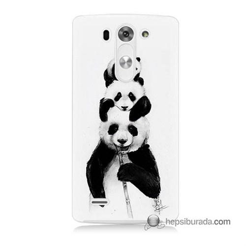 Teknomeg Lg G3 Mini Kapak Kılıf Panda Ailesi Baskılı Silikon
