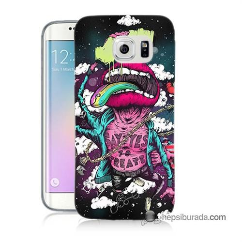 Teknomeg Samsung Galaxy S6 Edge Plus Kapak Kılıf Roling Stones Baskılı Silikon