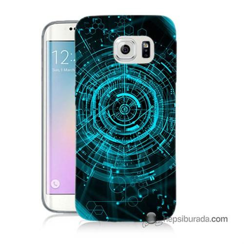 Teknomeg Samsung Galaxy S6 Edge Plus Kapak Kılıf Asit Baskılı Silikon
