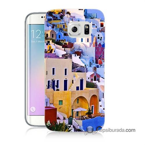 Teknomeg Samsung Galaxy S6 Edge Plus Kılıf Kapak İbiza Baskılı Silikon