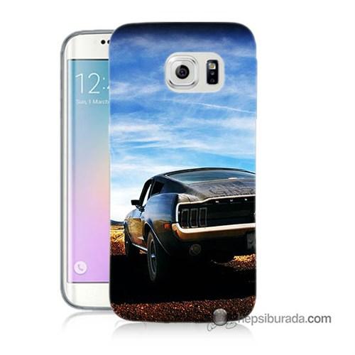 Teknomeg Samsung Galaxy S6 Edge Kılıf Kapak Mustang Baskılı Silikon