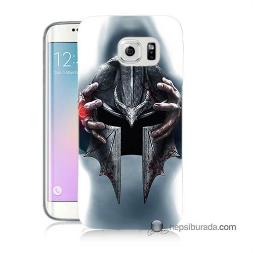 Teknomeg Samsung Galaxy S6 Edge Kılıf Kapak Assassins Creed Baskılı Silikon