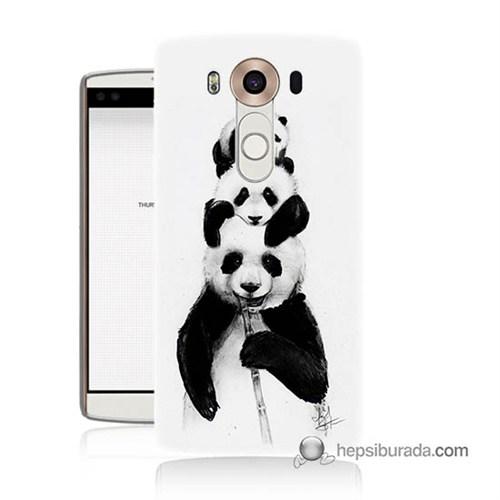 Teknomeg Lg V10 Kapak Kılıf Panda Ailesi Baskılı Silikon