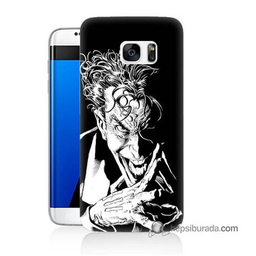 Teknomeg Samsung Galaxy S7 Edge Kapak Kılıf Gülen Joker Baskılı Silikon