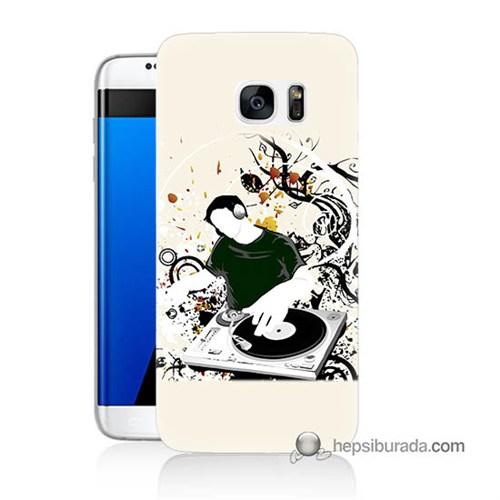 Teknomeg Samsung Galaxy S7 Edge Kılıf Kapak Disc Jokey Baskılı Silikon