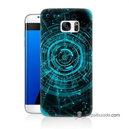 Teknomeg Samsung Galaxy S7 Edge Kapak Kılıf Asit Baskılı Silikon