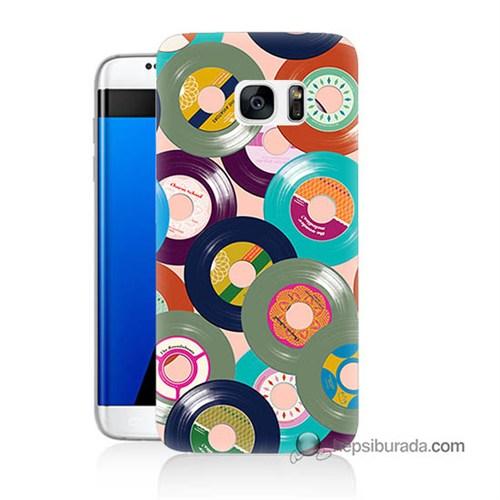 Teknomeg Samsung Galaxy S7 Edge Kapak Kılıf Renkli Plaklar Baskılı Silikon