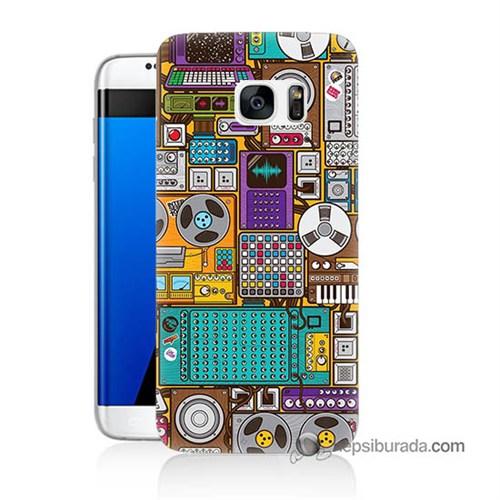 Teknomeg Samsung Galaxy S7 Edge Kılıf Kapak Teknoloji Baskılı Silikon