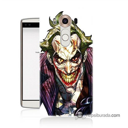 Teknomeg Lg V10 Kapak Kılıf Joker Baskılı Silikon