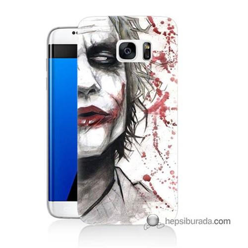 Teknomeg Samsung Galaxy S7 Edge Kapak Kılıf Kanlı Joker Baskılı Silikon