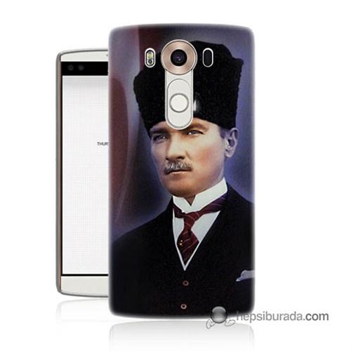Teknomeg Lg V10 Kılıf Kapak Mustafa Kemal Atatürk Baskılı Silikon