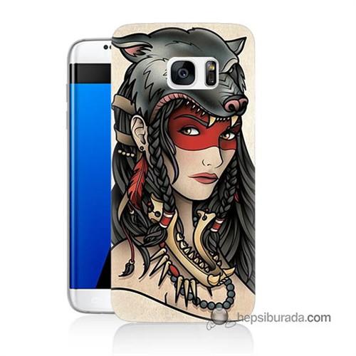 Teknomeg Samsung Galaxy S7 Edge Kapak Kılıf Pocahontas Baskılı Silikon