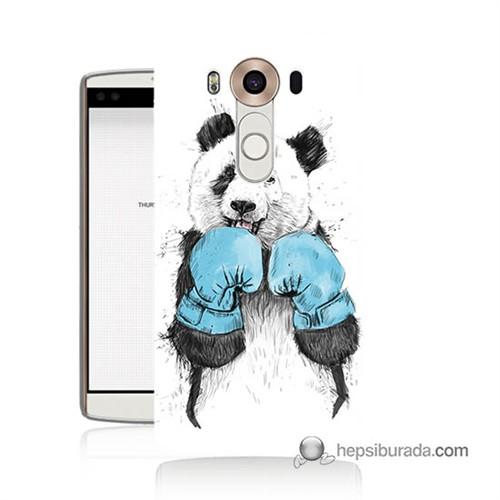 Teknomeg Lg V10 Kılıf Kapak Boksör Panda Baskılı Silikon