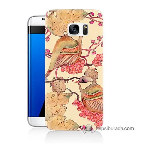 Teknomeg Samsung Galaxy S7 Edge Kılıf Kapak Kuşlar Baskılı Silikon