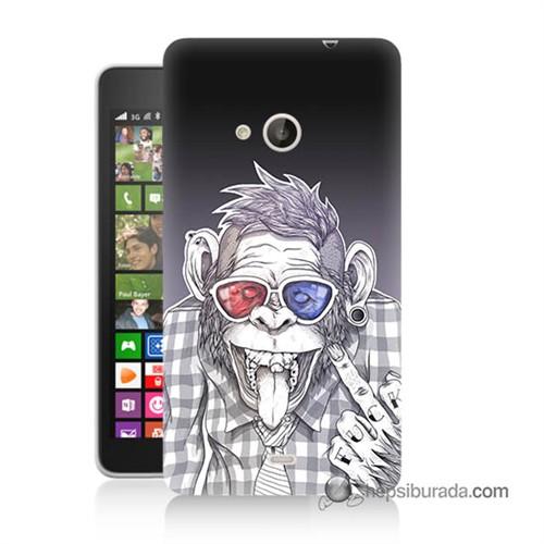 Teknomeg Nokia Lumia 535 Kapak Kılıf Maymun Baskılı Silikon
