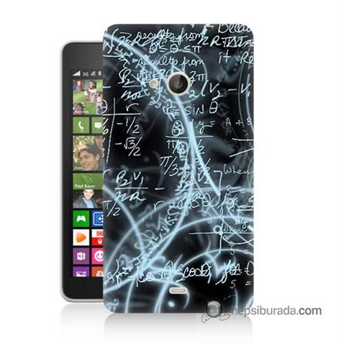 Teknomeg Nokia Lumia 535 Kapak Kılıf Matematik Baskılı Silikon