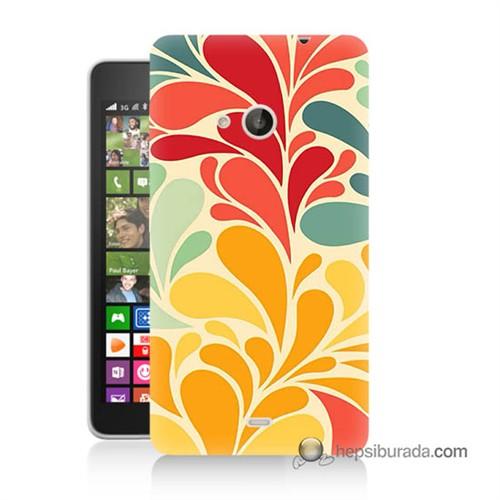 Teknomeg Nokia Lumia 535 Kapak Kılıf Çiçekler Baskılı Silikon
